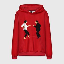 Толстовка-худи мужская Криминальное чтиво цвета 3D-красный — фото 1