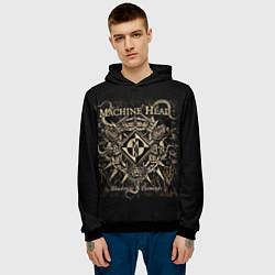 Толстовка-худи мужская Machine Head цвета 3D-черный — фото 2