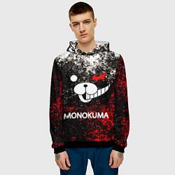 Толстовка-худи мужская MONOKUMA цвета 3D-черный — фото 2