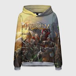 Толстовка-худи мужская Heroes of Might and Magic цвета 3D-меланж — фото 1