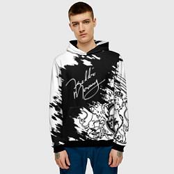 Толстовка-худи мужская Автограф Фредди Меркьюри цвета 3D-черный — фото 2