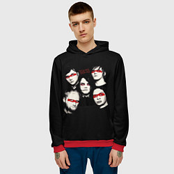 Толстовка-худи мужская My Chemical Romance цвета 3D-красный — фото 2