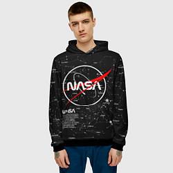 Толстовка-худи мужская NASA цвета 3D-черный — фото 2