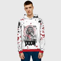 Толстовка-худи мужская Doom цвета 3D-красный — фото 2