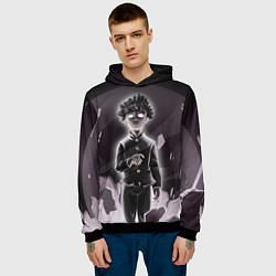 Толстовка-худи мужская Mob psycho 100 Z цвета 3D-черный — фото 2