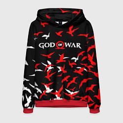 Толстовка-худи мужская GOD OF WAR цвета 3D-красный — фото 1