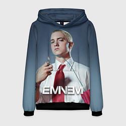 Толстовка-худи мужская Eminem Fire цвета 3D-черный — фото 1