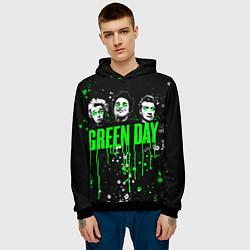 Толстовка-худи мужская Green Day: Acid Colour цвета 3D-черный — фото 2