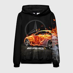 Толстовка-худи мужская Mercedes цвета 3D-черный — фото 1