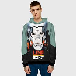 Толстовка-худи мужская Limp Bizkit: Faith Face цвета 3D-черный — фото 2