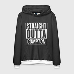 Толстовка-худи мужская Straight Outta Compton цвета 3D-белый — фото 1