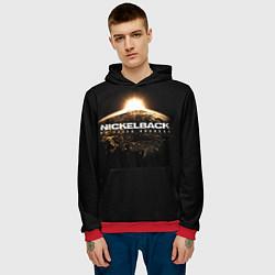 Толстовка-худи мужская Nickelback: No fixed address цвета 3D-красный — фото 2