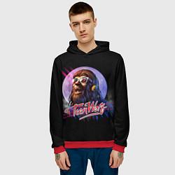 Толстовка-худи мужская Teen Wolf: Retro цвета 3D-красный — фото 2