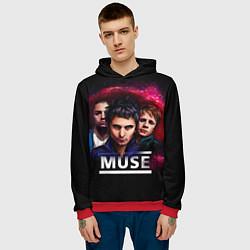Толстовка-худи мужская Muse Band цвета 3D-красный — фото 2