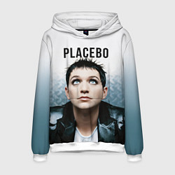 Толстовка-худи мужская Placebo: Brian Molko цвета 3D-белый — фото 1