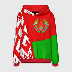 Толстовка-худи мужская Патриот Беларуси цвета 3D-красный — фото 1