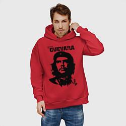 Толстовка оверсайз мужская Che Guevara цвета красный — фото 2