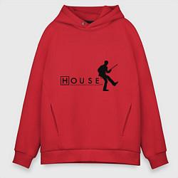 Толстовка оверсайз мужская House MD цвета красный — фото 1