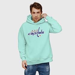 Толстовка оверсайз мужская Washington Capitals цвета мятный — фото 2