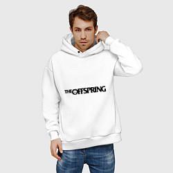 Толстовка оверсайз мужская The Offspring цвета белый — фото 2