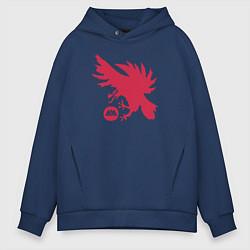 Толстовка оверсайз мужская Warlock Eagle цвета тёмно-синий — фото 1