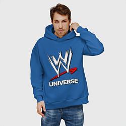 Толстовка оверсайз мужская WWE universe цвета синий — фото 2