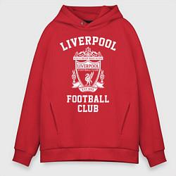 Толстовка оверсайз мужская Liverpool: Football Club цвета красный — фото 1