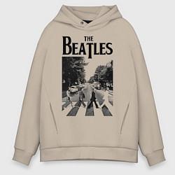 Толстовка оверсайз мужская The Beatles: Mono Abbey Road цвета миндальный — фото 1