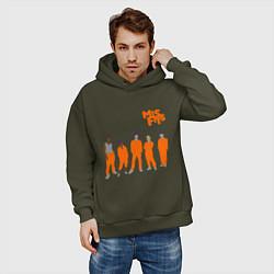 Толстовка оверсайз мужская Misfits Orange цвета хаки — фото 2