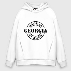 Толстовка оверсайз мужская Made in Georgia (сделано в Грузии) цвета белый — фото 1