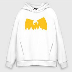 Толстовка оверсайз мужская Wu-Tang Clan цвета белый — фото 1