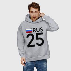 Толстовка оверсайз мужская RUS 25 цвета меланж — фото 2
