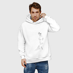 Толстовка оверсайз мужская Кирито цвета белый — фото 2