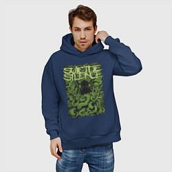Толстовка оверсайз мужская Suicide Silence цвета тёмно-синий — фото 2