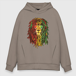 Мужское худи оверсайз Rasta Lion