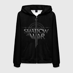 Толстовка 3D на молнии мужская Shadow of War цвета 3D-черный — фото 1
