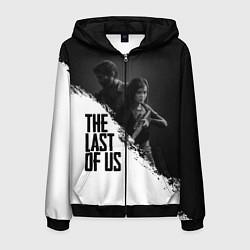 Толстовка 3D на молнии мужская The Last of Us: White & Black цвета 3D-черный — фото 1