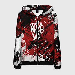 Толстовка 3D на молнии мужская Noize MC цвета 3D-черный — фото 1