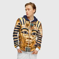 Толстовка 3D на молнии мужская Фараон цвета 3D-белый — фото 2