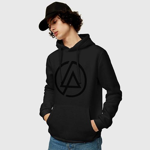 Мужская толстовка-худи Linkin Park: Sybmol / Черный – фото 3