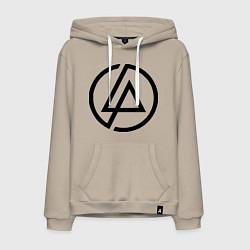 Толстовка-худи хлопковая мужская Linkin Park: Sybmol цвета миндальный — фото 1