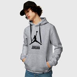 Мужская толстовка с капюшоном с принтом Jordan Style, цвет: меланж, артикул: 10011306700010 — фото 2