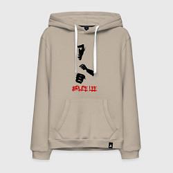 Толстовка-худи хлопковая мужская Bruce Lee цвета миндальный — фото 1
