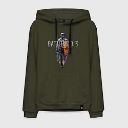 Толстовка-худи хлопковая мужская Battlefield 3 цвета хаки — фото 1