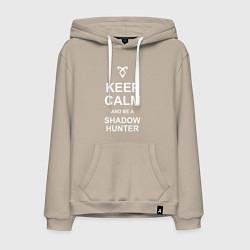 Толстовка-худи хлопковая мужская Be a Shadowhunter цвета миндальный — фото 1