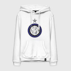 Толстовка-худи хлопковая мужская Inter FC цвета белый — фото 1