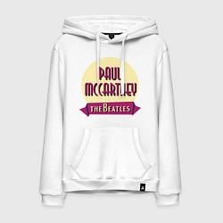 Толстовка-худи хлопковая мужская Paul McCartney: The Beatles цвета белый — фото 1