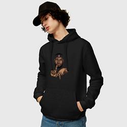 Толстовка-худи хлопковая мужская LeBron Style цвета черный — фото 2