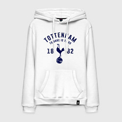 Толстовка-худи хлопковая мужская FC Tottenham 1882 цвета белый — фото 1
