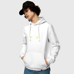 Толстовка-худи хлопковая мужская Жигули 2107 цвета белый — фото 2